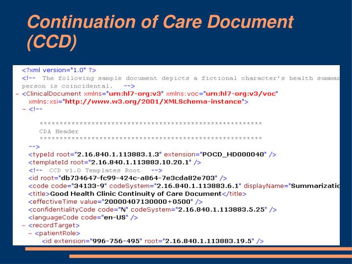 Continuation of Care Document