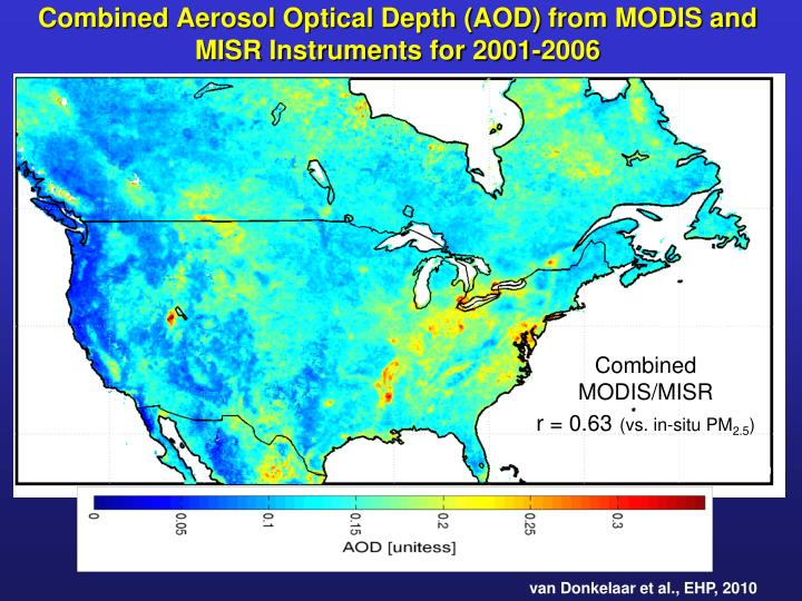 Combined Aerosol Optical Depth (AOD)
