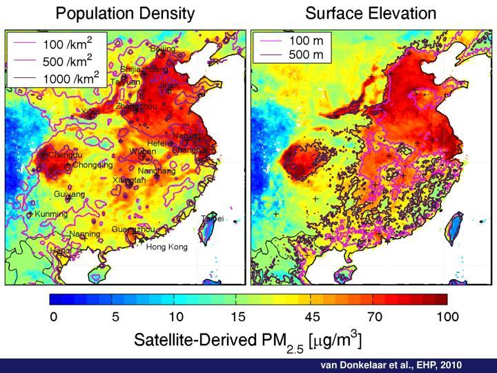 van Donkelaar et al., EHP, 2010