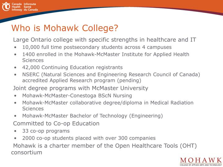 Who is Mohawk College?
