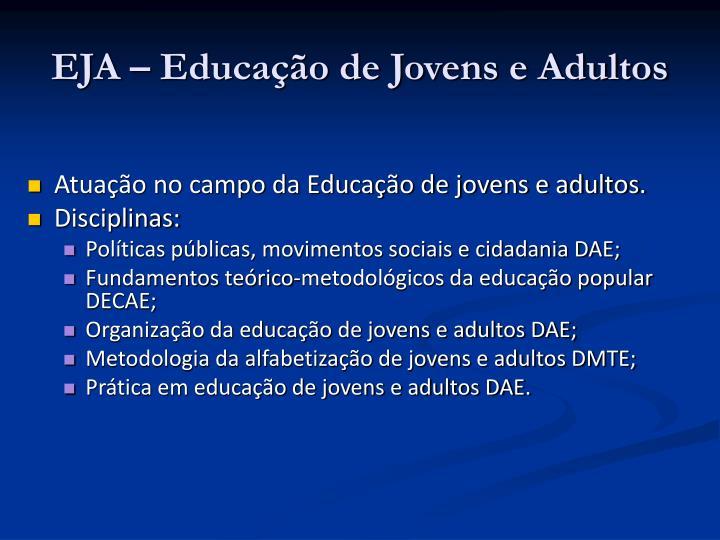 EJA – Educação de Jovens e Adultos
