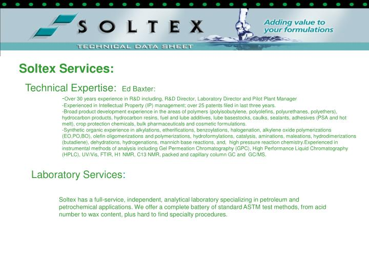 Soltex Services:
