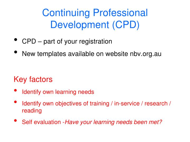 CPD – part of your registration