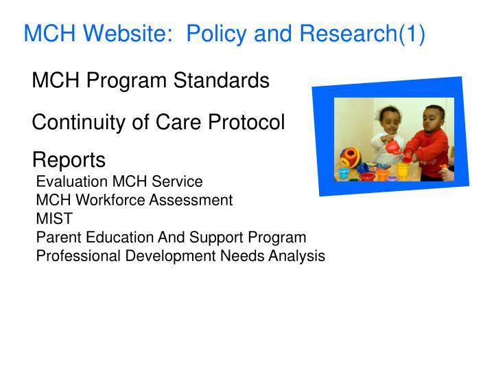 MCH Website: