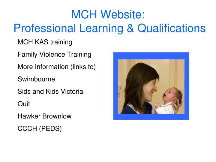 MCH KAS training
