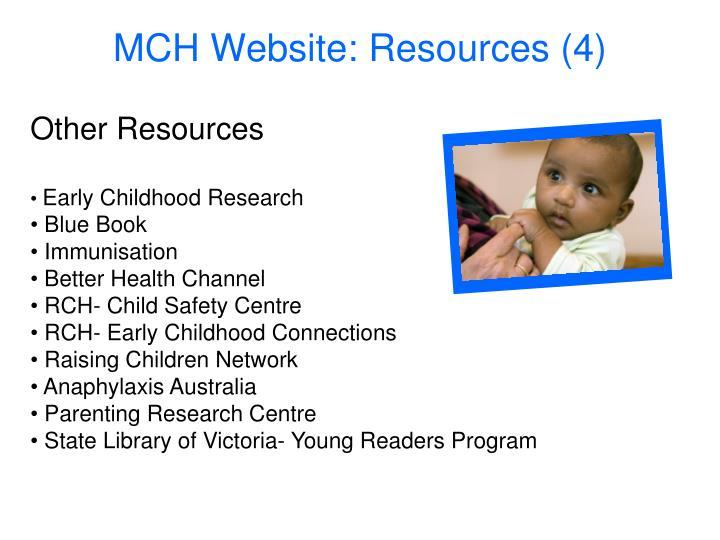 MCH Website: Resources (4)