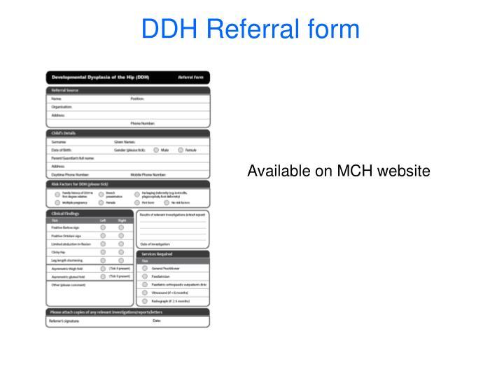 DDH Referral form