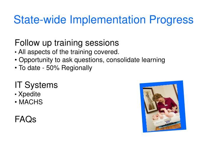 State-wide Implementation Progress