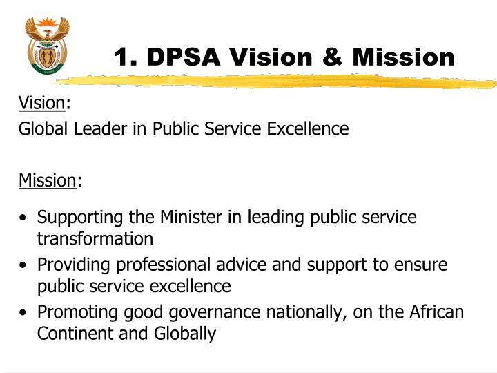 1. DPSA Vision & Mission