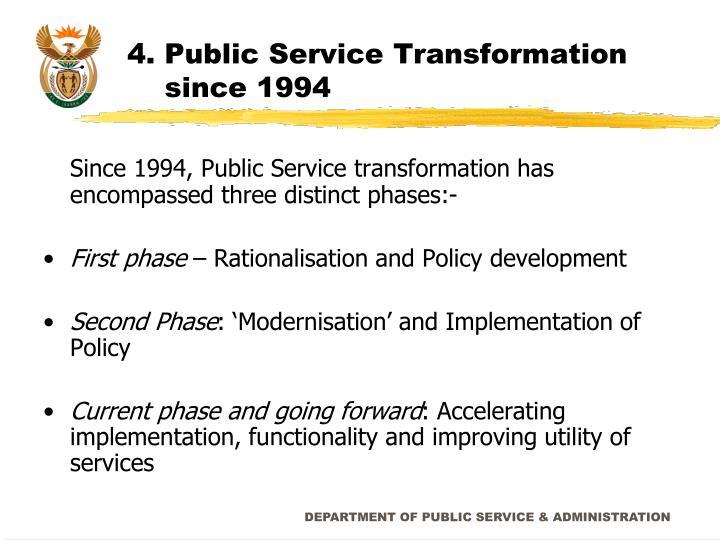 4. Public Service Transformation