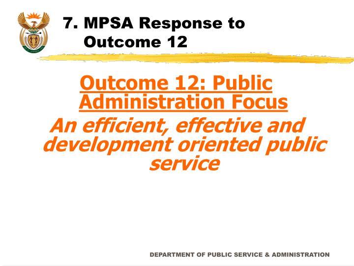7. MPSA Response to