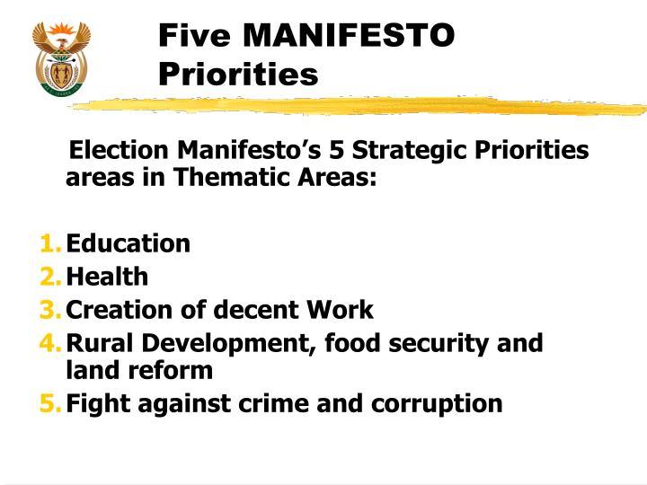 Five MANIFESTO