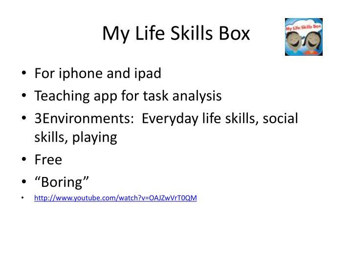 My Life Skills Box