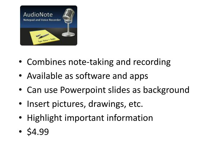 Combines note-taking and recording