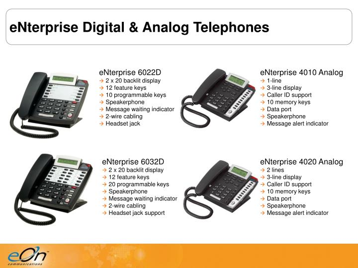 eNterprise Digital & Analog Telephones
