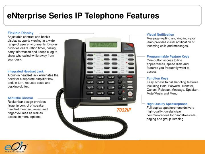 eNterprise Series IP Telephone Features