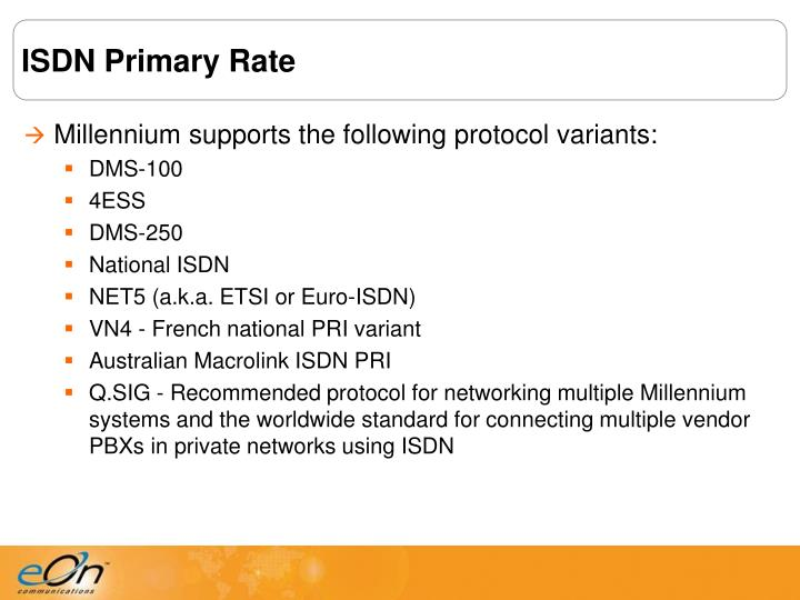 ISDN Primary Rate