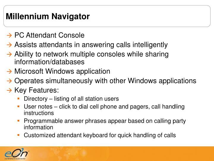 Millennium Navigator