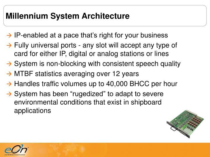 Millennium System Architecture