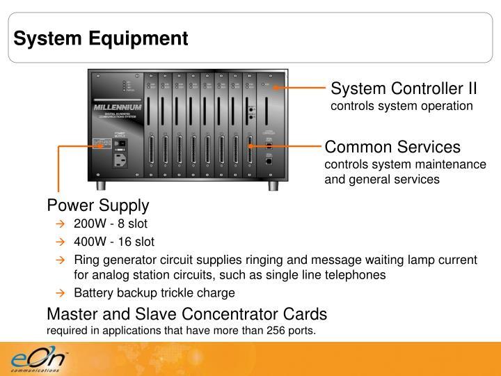 System Equipment