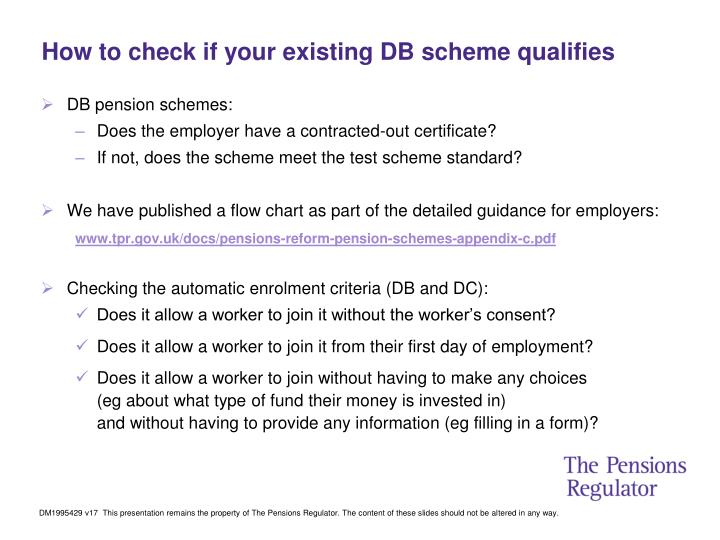 How to check if your existing DB scheme qualifies