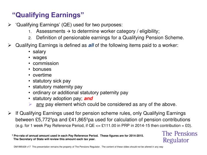 """Qualifying Earnings"""