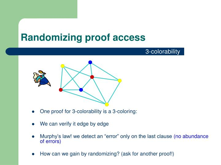 Randomizing proof access