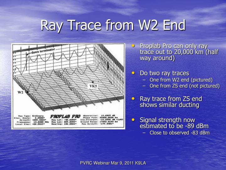 Ray Trace from W2 End