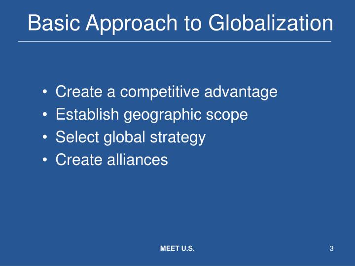 Basic approach to globalization