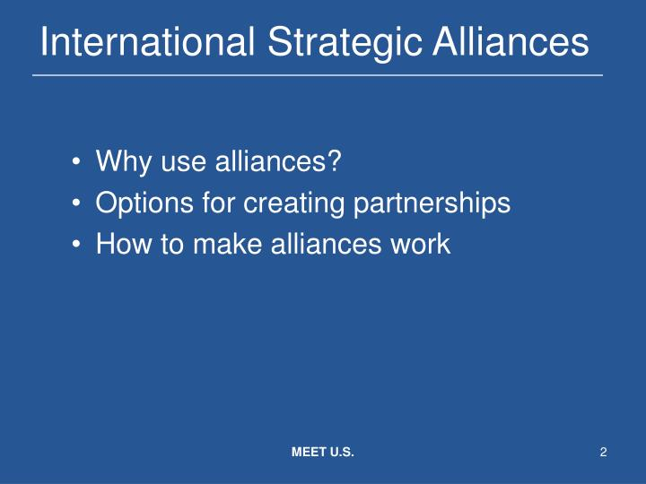 International strategic alliances1
