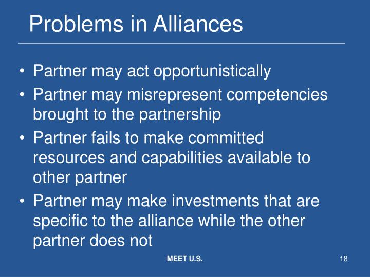 Problems in Alliances