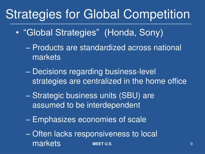 policy and strategy in global competition 3 essay