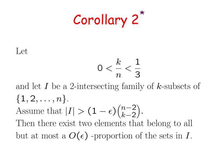 Corollary 2