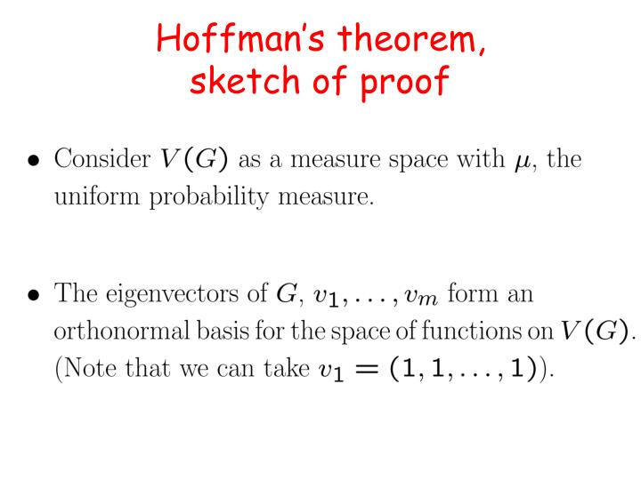 Hoffman's theorem,