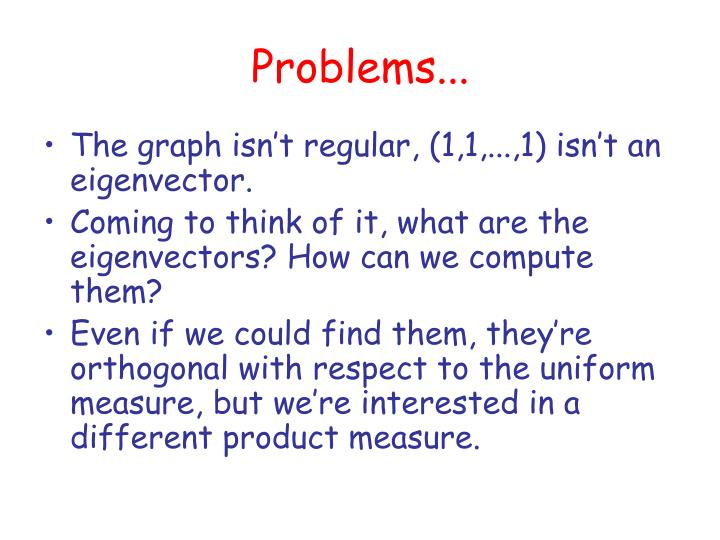 Problems...