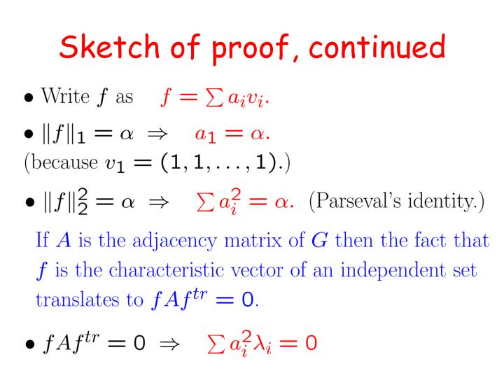 Sketch of proof, continued