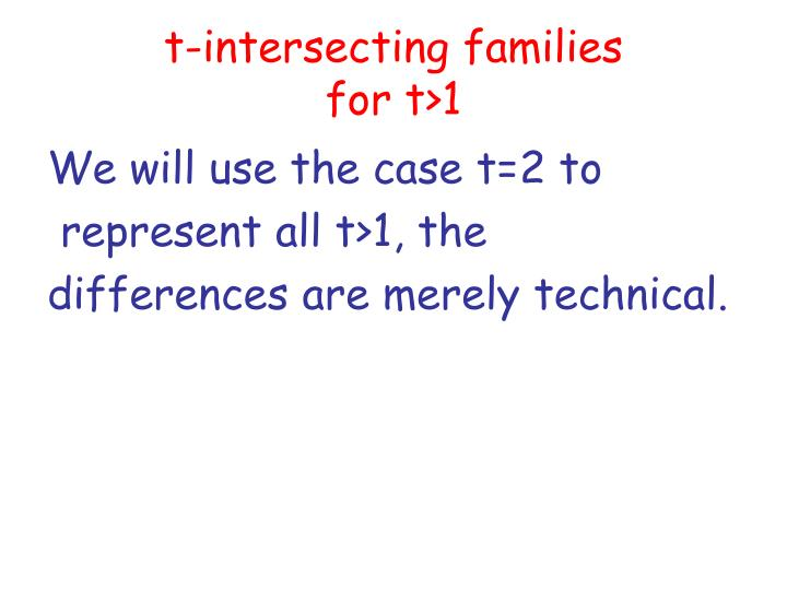 t-intersecting families