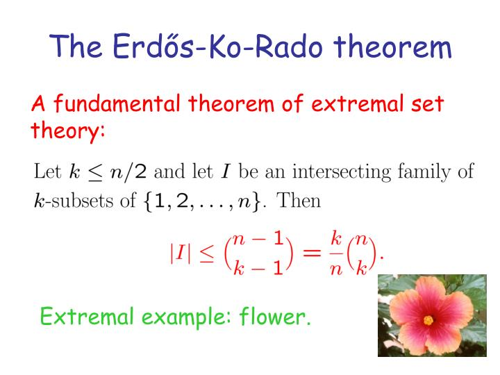 The Erdős-Ko-Rado theorem