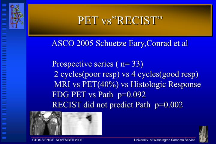 "PET vs""RECIST"""