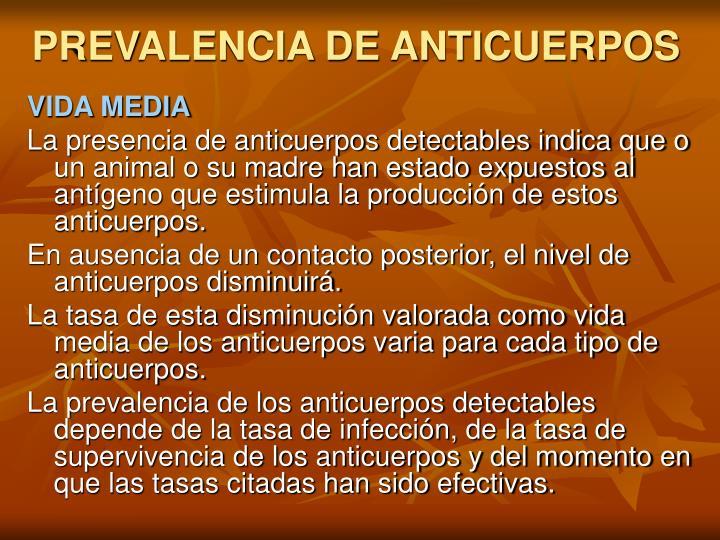 PREVALENCIA DE ANTICUERPOS