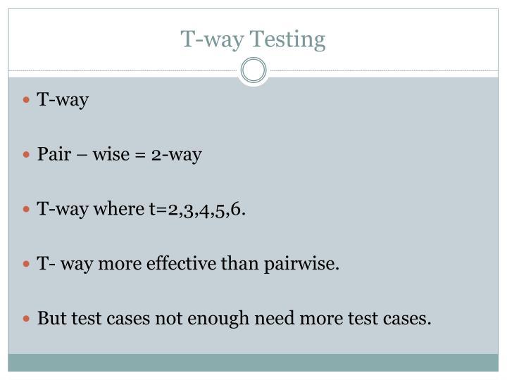 T-way Testing