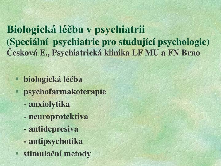 Biologická léčba v psychiatrii