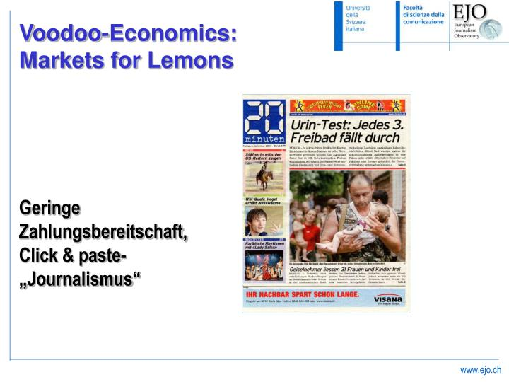 Voodoo-Economics: