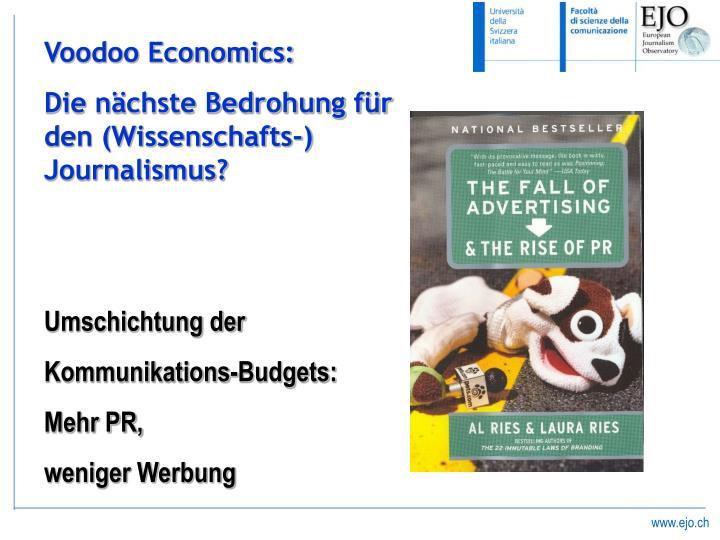 Voodoo Economics: