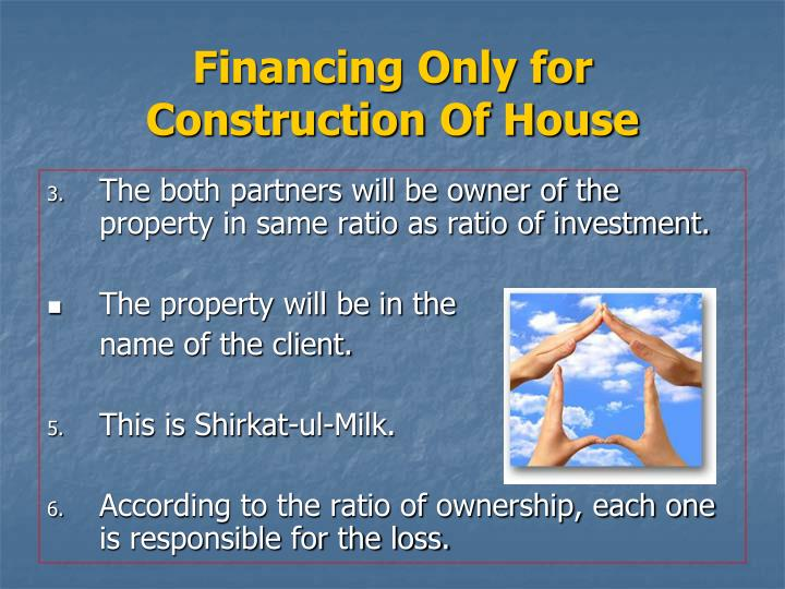 Ppt diminishing musharakha powerpoint presentation id for Loan for land only