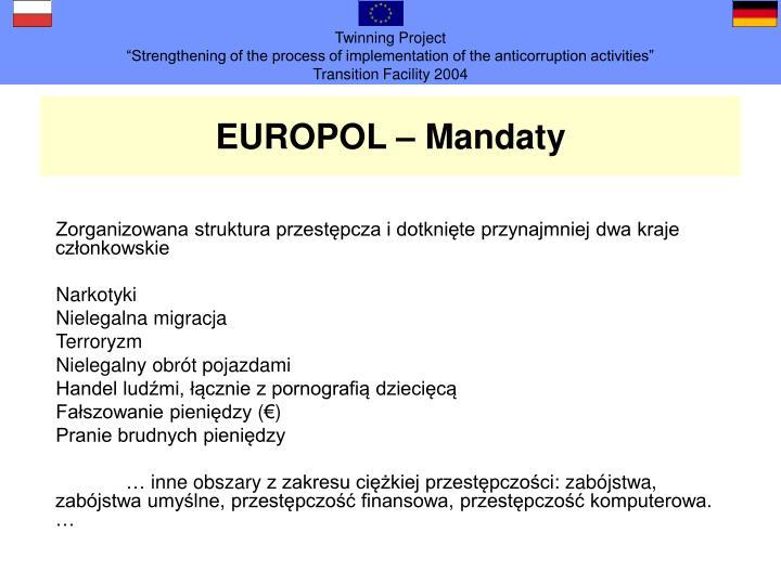 EUROPOL – Mandat