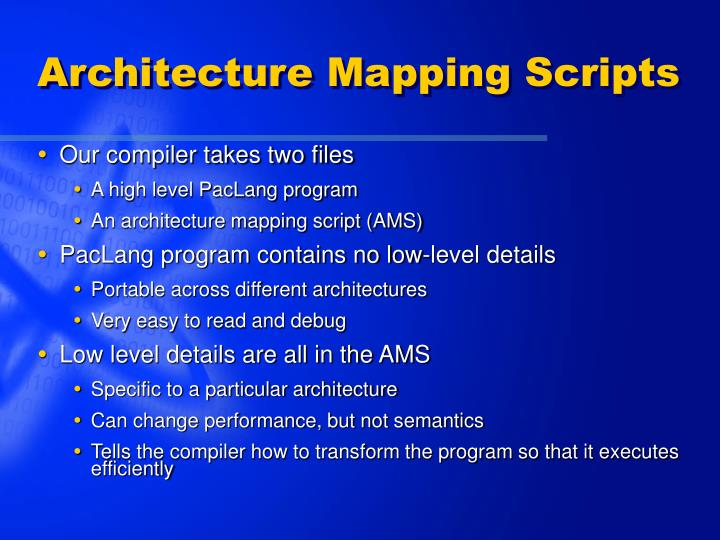 Architecture Mapping Scripts
