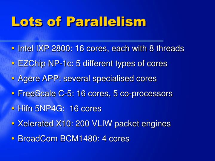 Lots of Parallelism
