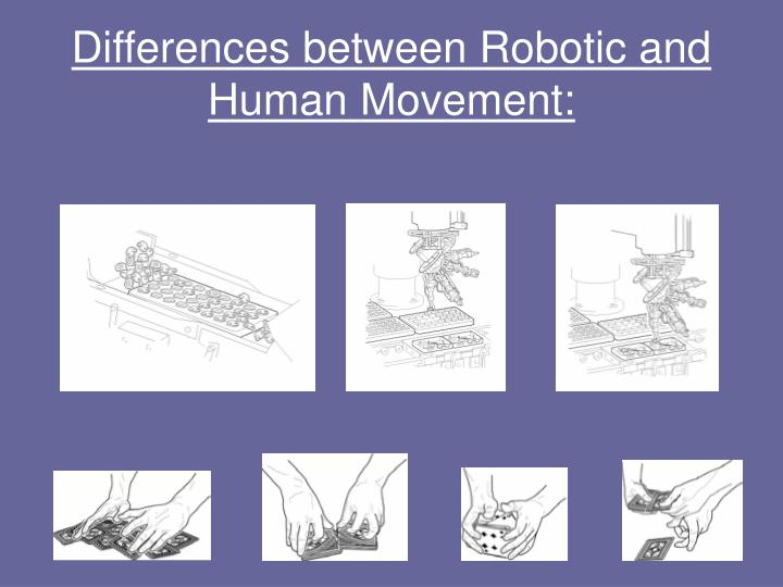Differences between Robotic and Human Movement: