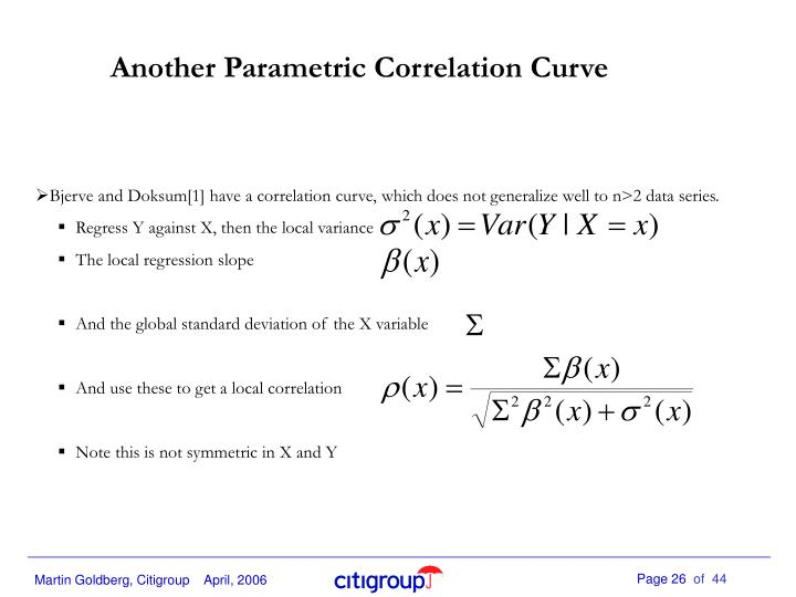 Another Parametric Correlation Curve